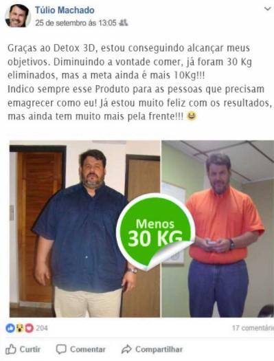 Detox 3D resultados de homem
